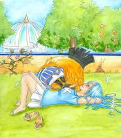 A nap in the Garden by Mellobird