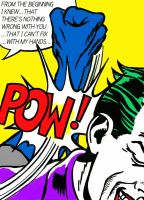 Batman in 'Sweet Dreams Baby!' by Lichtenstein by Nick-Perks