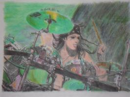 CC with his Drums colored by xxdaswarwohlnix