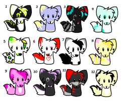 other cat adoptables ::OPEN:: by X-x-GhostKitten-x-X