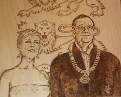 The presidential couple of Estonia by Oll