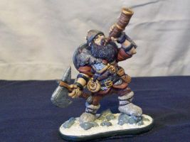 Dwarf in Snow by superclayartist