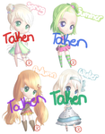 CLOSED - Adoptables - Chibis - Seasons by Inlinverst
