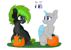 MS Paint Picking Pumpkins Collab by mlpdarksparx