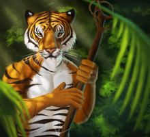 Tiger in the Jungle by CtrlAltCat