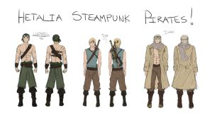 Hetalia Steampunk Pirate  by Camilla205