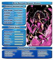 Star Sapphire Wonder Woman Stats by vipplayer