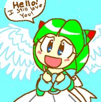 Angel Cosmo: 'Hello' by Umbra-Flower