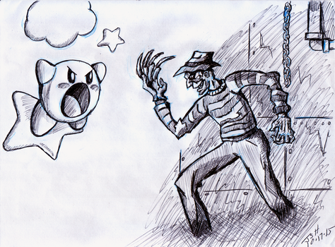 Kirby VS Freddy Krueger by MagusTheLofty