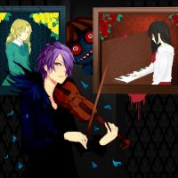Ib: Dark Melody colored by LeMonisa