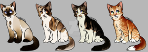 More cat adopts (CLOSED) 0/4 by Foxibau