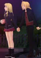 Fireworks - Winry and Ed by koshami