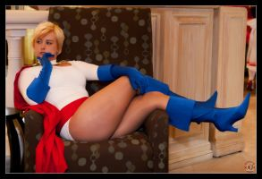 Powergirl - Blue Boots by Kuragiman