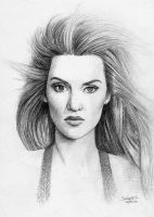 Kate Winslet Drawing 2 by salomnsm