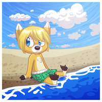 Illinath at the beach by WizzDono