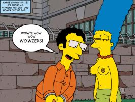 Marge topless by WVS1777