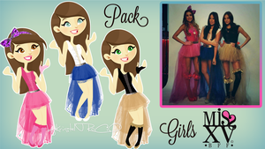 Pack Girls MISS XV Dolls by RoohEditions