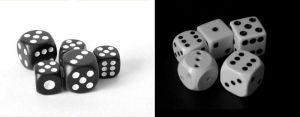 dices black and white by magamy