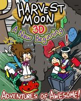 Harvest Moon Adventures of Awesome - Title Page by Amy-the-Jigglypuff