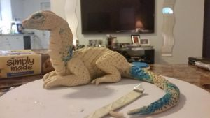 baby dragon progress sculpture :)  by dragonempress87