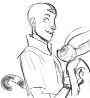 Aang and Momo by ivygreane
