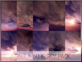Nebula Blue Sky Pack by arca-stock