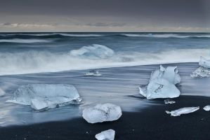 Icebergs on the Beach 2 by cwaddell