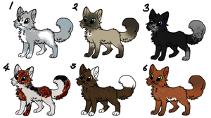1 POINT warrior cat ADOPTABLES by Icepetal21