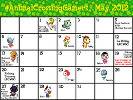 #AnimalCrossingGamers Calendar for May 2012 by TheStaticStalker