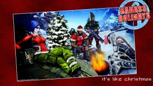 Borderlands 2 Xmas Card by mentalmars