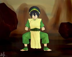 Toph - The blind bandit by Sango94