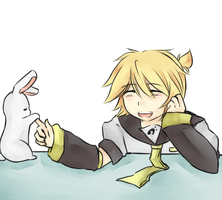 Len and his bunny by missing-fortunediver