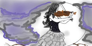Lady With Violin1 by Alielove19