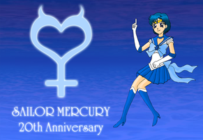 Sailor Mercury 20th Anniversary by ZeFrenchM