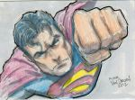 More sketch cards! Superman by MikeVanOrden