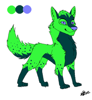 Adopt A Green Wolf. by Daisylasy3