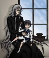 Undertaker and Little Ciel by NinjaDragon3