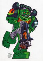 Salamanders Space Marine by Chad73