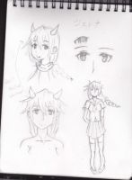Jenna sketch reference sheet by Keith030