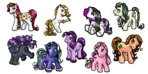 MLP - Original Characters by evafortuna