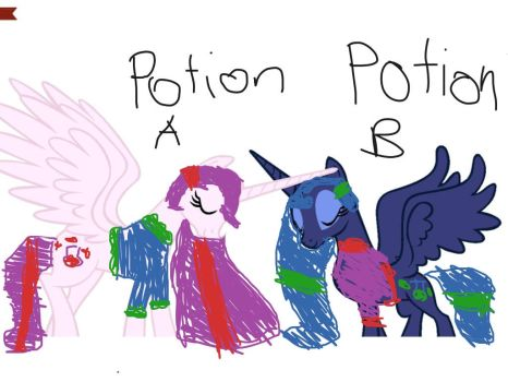 Pick a potion if you dare by Colorstrike07