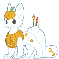 [CLOSED] Pumpkin Snowcat by Ayinai