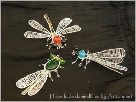 3 little damselflies by Antonymi1