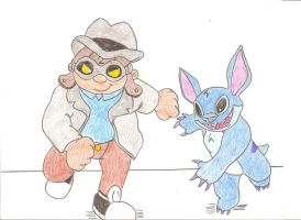 Hoagie and Stitch by Jose-Ramiro