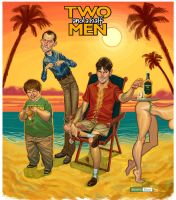 TWO and a half MEN by juarezricci