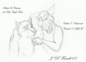Balto and Charlie by darkmane