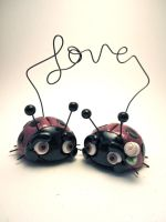 Love Bugs Wedding Cake Topper by TobbersToppers