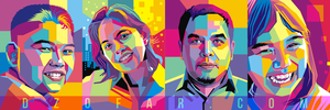 Pop Art WPAP Family by ndop