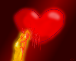 Blood-red Heart by WingedWarrior13
