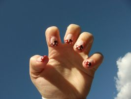 Minnie Mouse Nails by 0han-nah0